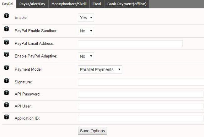 payment gateways in pricerr theme