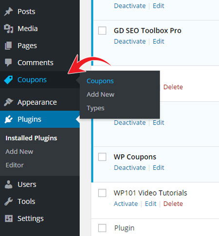 WPCoupons plugin Custom Post types