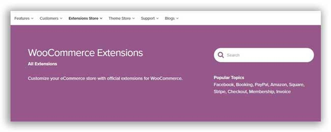 Woocommerce free extensions store