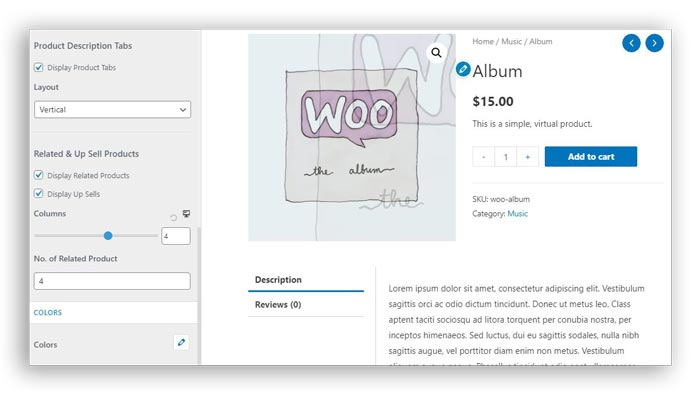 display related products in woocommerce