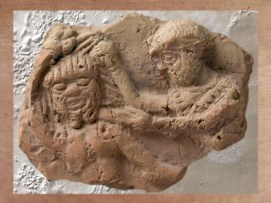D'après Humbaba, gardien de la forêt de Cèdres, tué par Gilgamesh, 2000-1800 avjc.(Marsailly/Blogostelle.)
