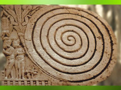D'après une spirale sur le décor du grand stûpa de Sanchî, Ier siècle avjc-Ier siècle apjc, Inde du Nord. (Marsailly/Blogostelle)