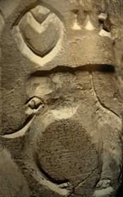 D'après une empreinte de sceau à motif d'éléphant et signes, Mohenjo-Daro, entre 2300 et 1800 avjc, civilisation de l'Indus. (Marsailly/Blogostelle.)