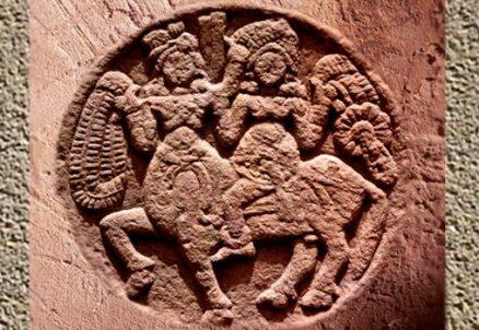 D'après un cavalier, médaillon, Sanchî 2, Madhya Pradesh, Inde du Nord. (Marsailly/Blogostelle)