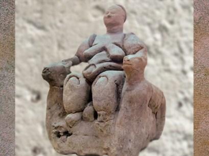 D'après la Déesse-Mère, VIe millénaire avjc, néolithique, Çatal Hüyük , Anatolie, Ankara. (Marsailly/Blogostelle)