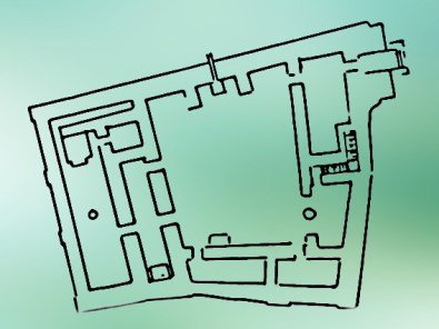 D'après un dessin du temple de Sîn, le dieu Lune, vers 2600 ans avjc, Khafadjé, région de Diyala, Babylonie, Irak actuel, Mésopotamie. (Marsailly/Blogostelle)