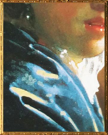 D'après La Jeune Femme au Chapeau Rouge, détail, Johannes Vermeer, vers 1665, IVM. (Marsailly/Blogostelle)