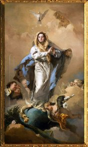 D'après L'Immaculée Conception, Giovanni Battista Tiepolo, 1767-1768, XVIIIe siècle. (Marsailly-Blogostelle)