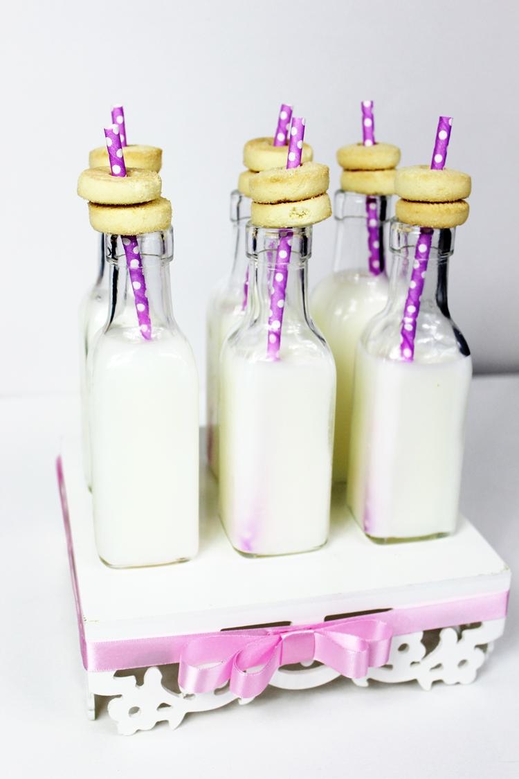 festa do pijama garrafinha de leite