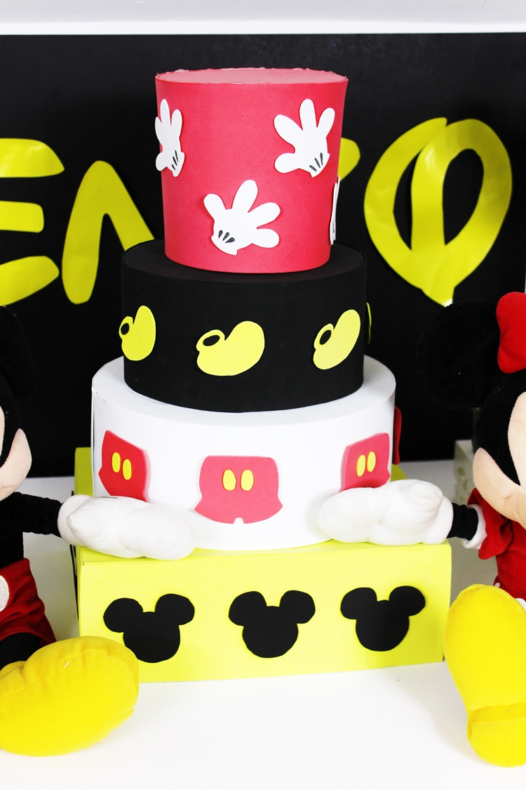 festa do mickey bolo fake