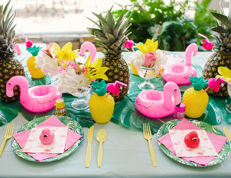 Matrimonio Tema Tropical : Ideias para montar festa flamingo tropical