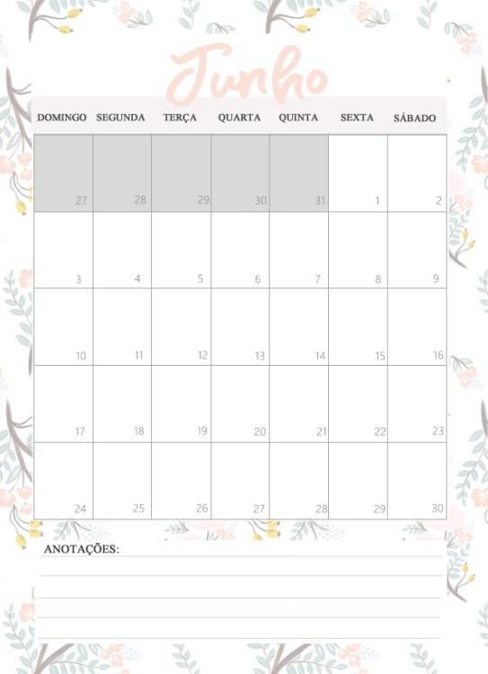 Planner 2018 Para Imprimir Por Carol Gomes