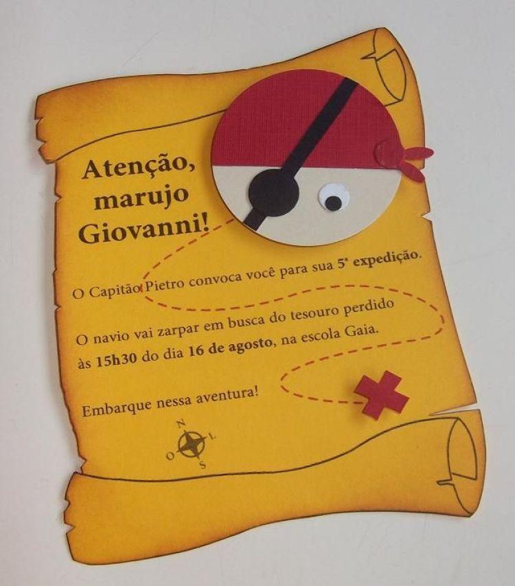 CONVITES FESTA PIRATA