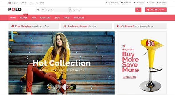 polo-tema-wordpress-crear shop-in-line-liquidación facilidad