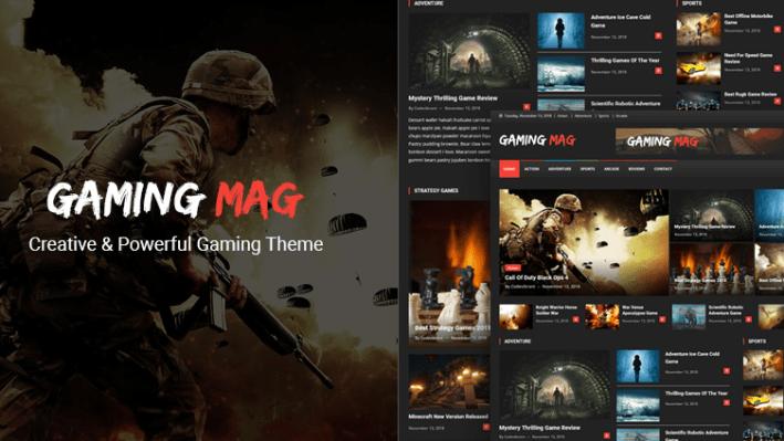 Gaming mag theme wordpress jeux magazine