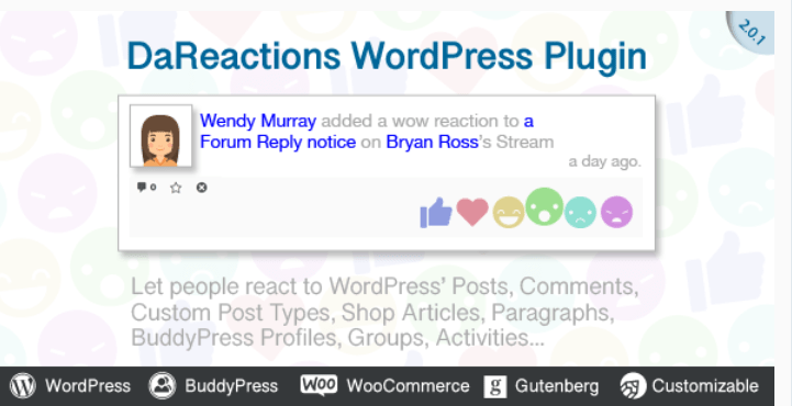 Реакции плагина Wordpress