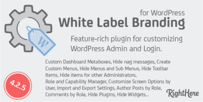 White Label Branding for WordPress plugin WordPress
