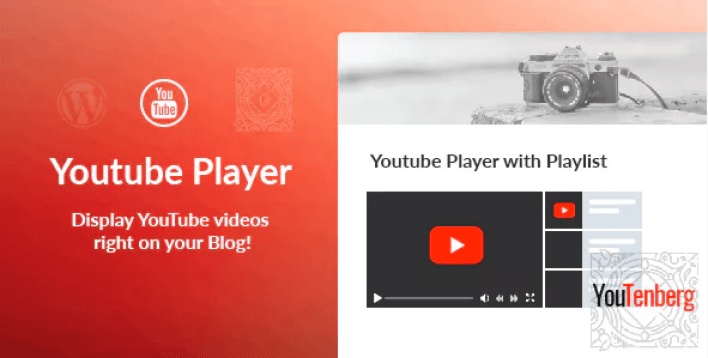 Youtenberg gutenberg youtube player with playlist plugin wordpress
