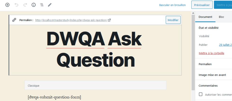웹 사이트 질문 답변을 만드는 방법 wordpress blogpascher 제목