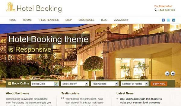 14 th mes wordpress pour cr er un site web pour les h tels for Meilleur site pour reservation hotel
