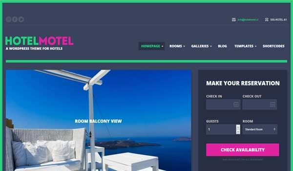 14 th mes wordpress pour cr er un site web pour les h tels for Site web pour hotel