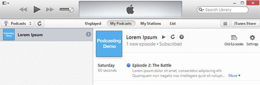 test-your-podcast itunes