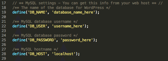 Update your wp-config.php file with the details of your database.