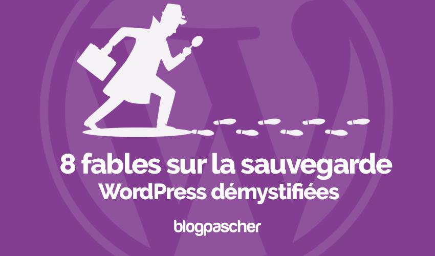 8 Fables Sauvegarde Wordpress Demystifiees Blogpascher