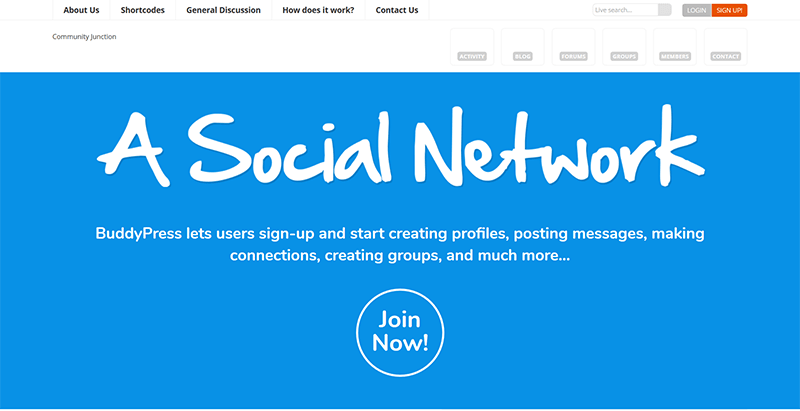 Community junction themes wordpress creer reseau social buddypress