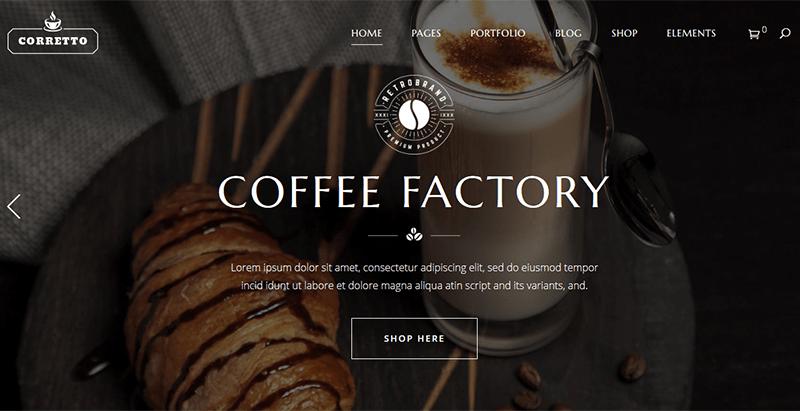créer un site web de restaurant - Corretto