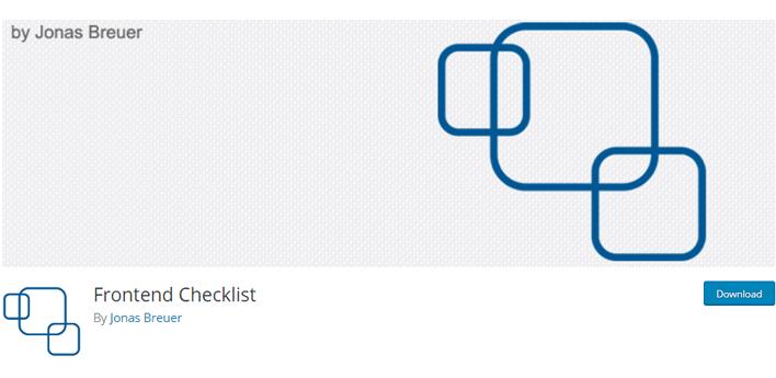 Frontend checklist wordpress plugin
