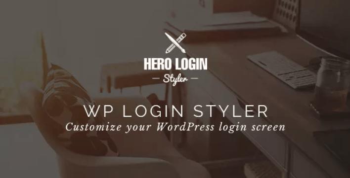 Hero login styler плагин настройки экрана входа в систему wordpress