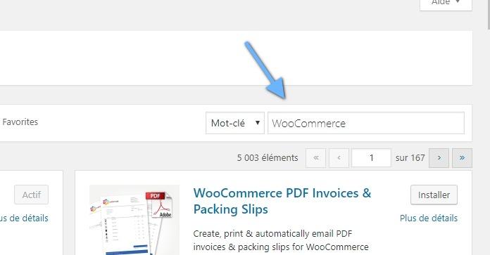 Tutoriel comment configurer woocommerce blogpascher une fois que cest fait cliquez sur chercher parmi les extensions recherchez dans la liste des rsultats woocommerce excelling et installez le fandeluxe Choice Image