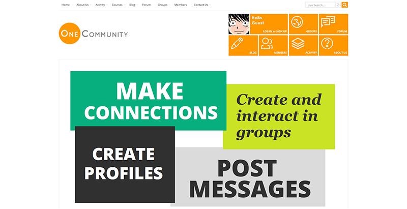 onecommunity themes wordpress creer reseau social buddypress