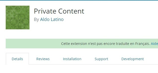 Private contenu plugins wordpress