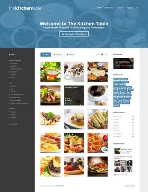 10 Temas de WordPress para crear un blog de comida (los ingresos ...