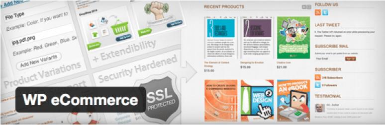 ปลั๊กอิน WordPress, WP-e-Commerce-eCommercepour