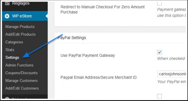 Como vender seus produtos com segurana com o estore plug in wp menu configuraes wp eshop fandeluxe Image collections
