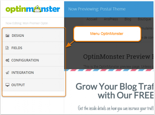 menu-personnalisation-optin-monster