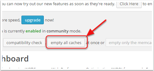 how empty it-hide-w3 total cache