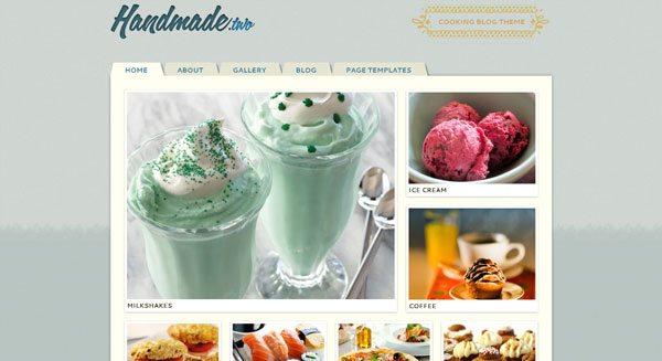Handmade : un thème WordPress pour créer un blog de cuisine