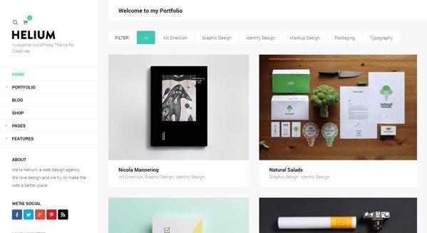 Hellium: un tema de WordPress para crear un blogger creativa ...