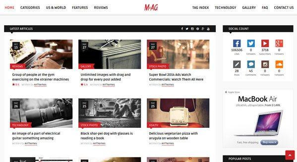 Mag: Un tema de WordPress para crear un blog y revista personal ...