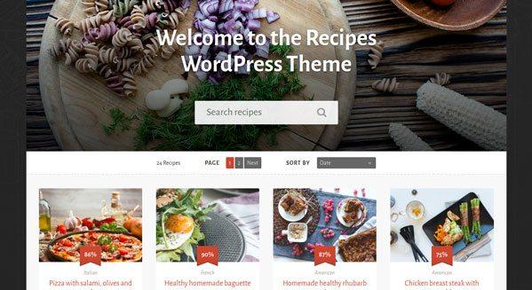 Recipes: Un thème WordPress pour créer site, blog de recettes de cuisine