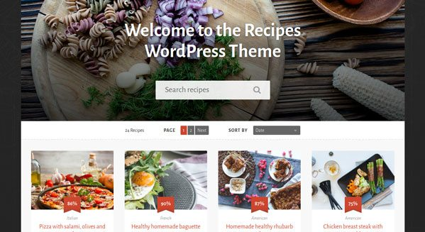 Recipes un th me wordpress pour cr er site blog de cuisine blogpascher - Creer un blog de cuisine ...