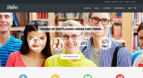 WPLMS theme wordpress vendre formation cours en ligne