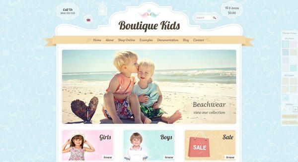 boutique kids theme wordpress creer boutique ecommerce pour enfants