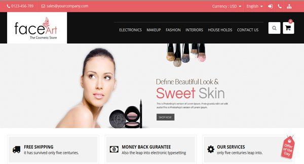 Face Art : Un Thème PrestaShop Pour Site De Salon De Beauté