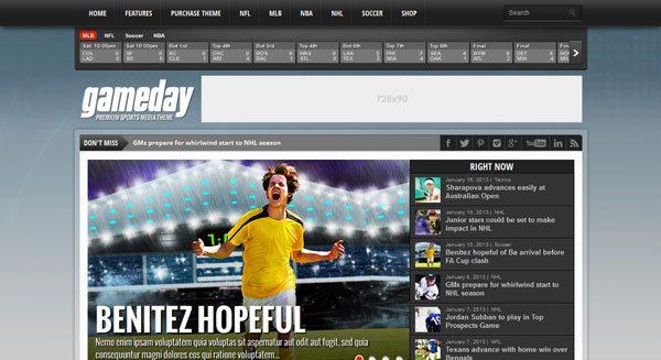 Gameday theme wordpress ceer journal sportif