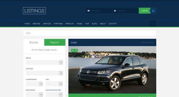 Listings : un thème WordPress de vente de voitures/maisons